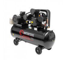 Компрессор 200 л, 7,5 кВт, 380 В, 8 атм, 1050 л/мин. 3 цилиндра INTERTOOL PT-0040
