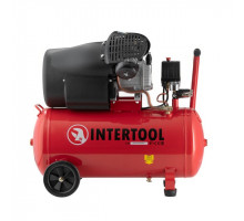 Компрессор 50 л, 2.23 кВт, 220 В, 8 атм, 354 л/мин, 2 цилиндра INTERTOOL PT-0004